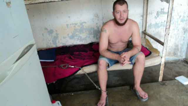 Jailed Marine chained to bed in Mexican prison