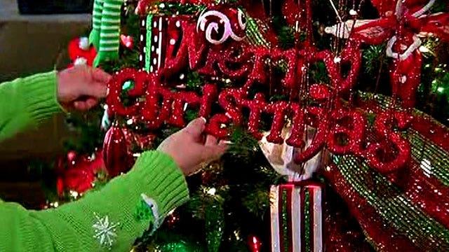 Christmas trees create a holiday wonderland