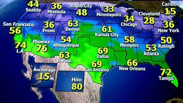 National forecast for Wednesday, 12/18