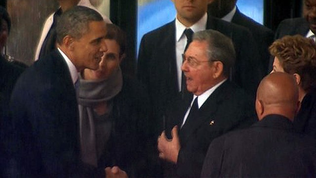 Why is there a media fixation with Obama-Castro handshake?