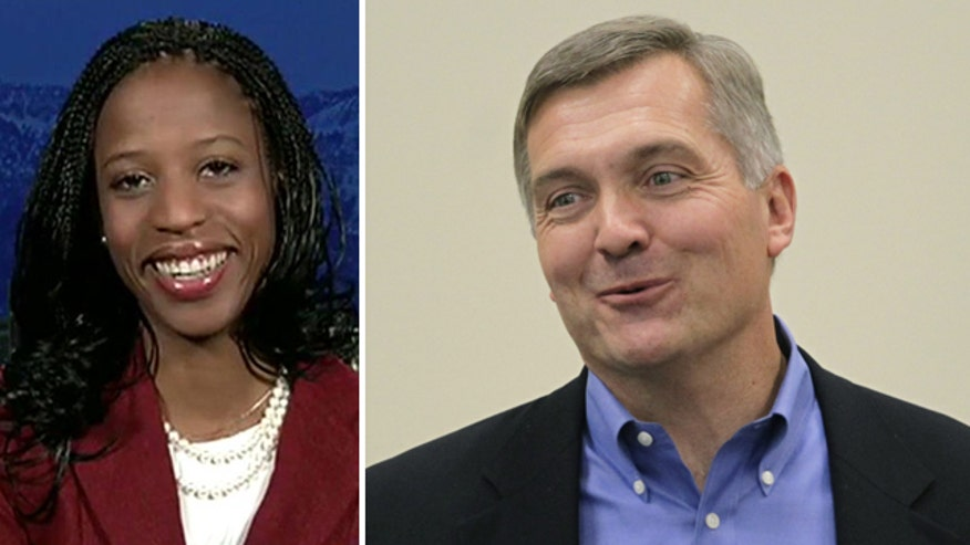 Utah congressional candidate Mia Love reacts