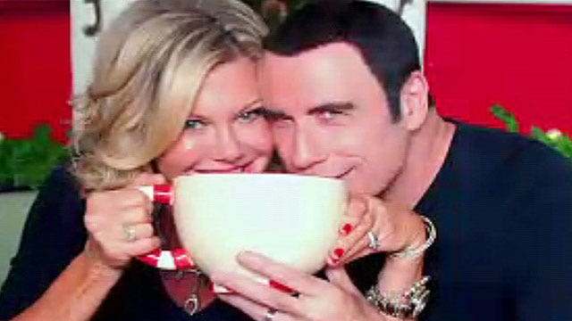 Olivia Newton-John, John Travolta reunite for Christmas