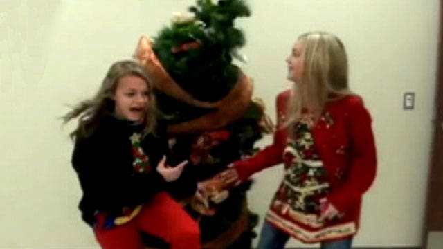 'Living' Christmas tree gives school a scare