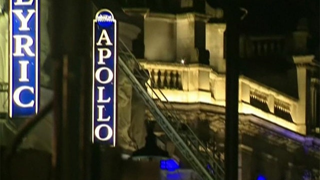 Balcony collapses at London theatre