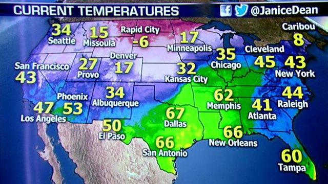 National forecast for Friday, 12/20