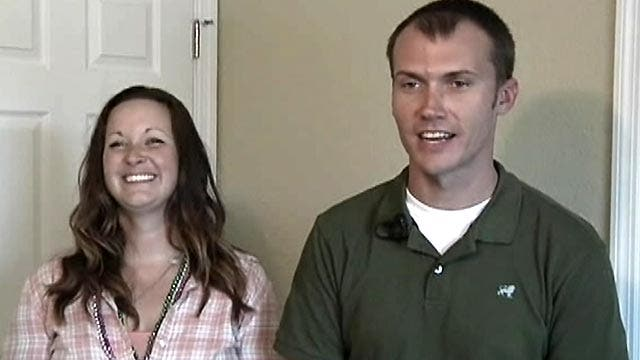 Sgt. Clay Baker gets keys to new home