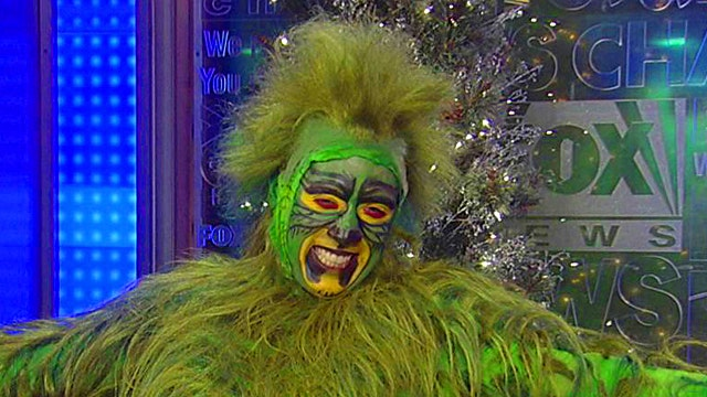 'The Grinch' hangs out on 'Fox & Friends'