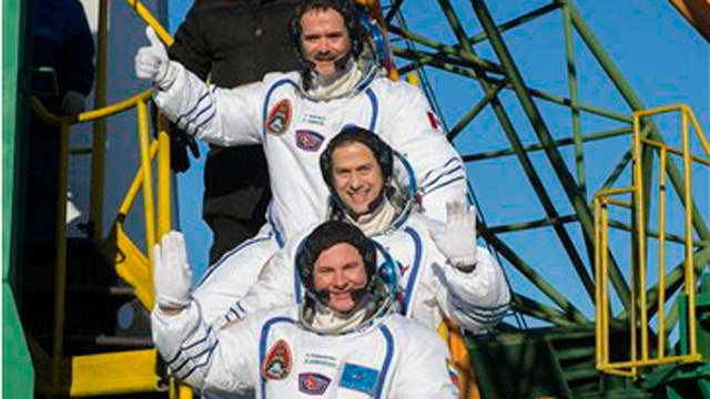 American astronaut arrives at International Space Station