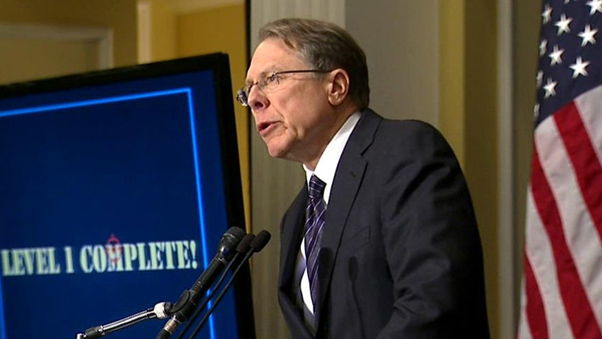 Wayne LaPierre gives news conference