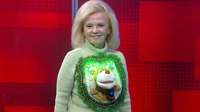 'Fox & Friends' ugly Christmas sweater fashion show