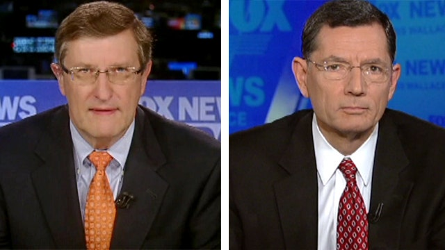 Sens. Conrad, Barrasso debate chances of 'fiscal cliff' deal