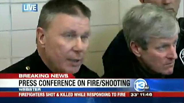Four firefighters shot, two killed in Webster, N.Y.