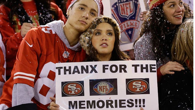 49ers fans say goodbye to Candlestick Park