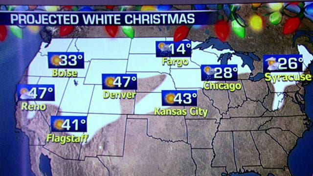 National forecast for Christmas Eve