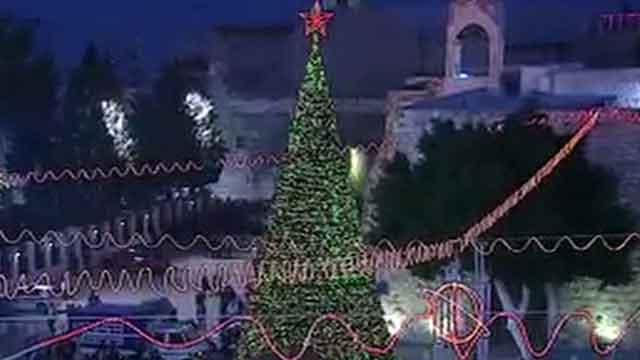 Christians visit Jesus' birthplace on Christmas