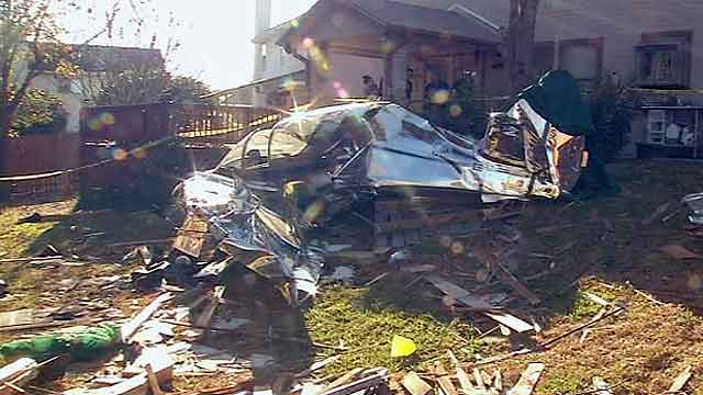 Across America: Plane crash-lands in backyard