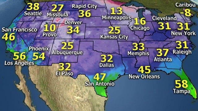 National forecast for Thursday, 12/26