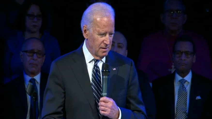 Biden speaks at Christ Tabernacle Church in Queens, NY