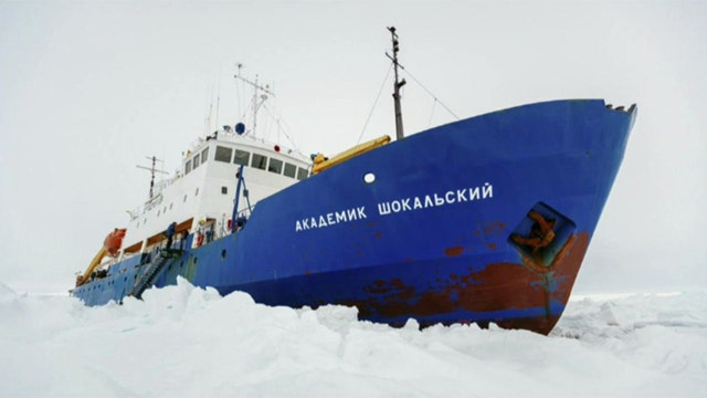 Ice breaker racing to rescue trapped ship