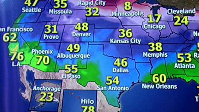 National forecast for Monday, December 30