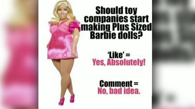 Plus-size Barbie sparks heated debate online