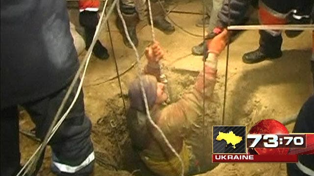 Around the World: Risky well rescue in the Ukraine