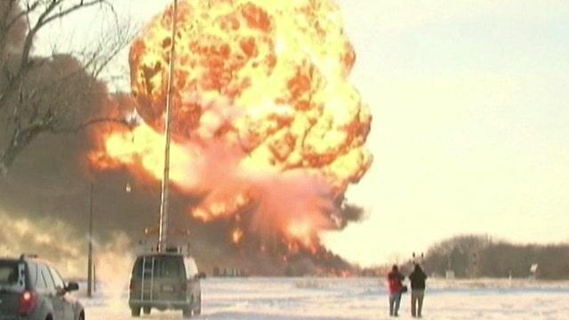 NTSB sending go-team to site of fiery train derailment