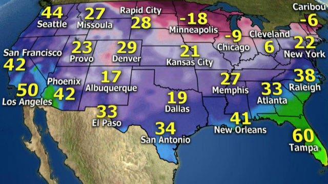 National forecast for Tuesday, December 31