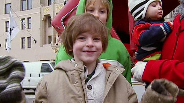 Brave little boy gets new year's wish filled