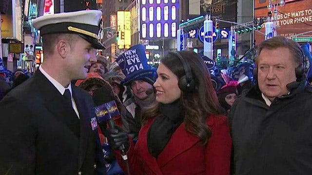New Year's salute to men and women in uniform