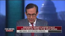 On Sunday, Chris Wallace covers Presidents Trump lawyer calls for Mueller Probe to be shut down, Andre McCabe being fired hours before retirement, McCabe being found to have made unauthorized disclosures to press, and Trump fires secretary of state Rex Tillerson.