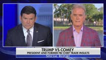 On Monday, Bret Baier brings you the latest on the war of words between James Comey and President Trump. Then later, as officials claim success in the airstrikes against chemical weapons targets in Syria, Brit Hume joins the show to discuss the possibility of future U.S. involvement in the region.