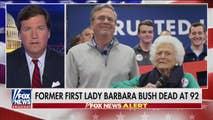 On Tuesday, Tucker goes through stories and memories of the former First Lady Barbara Bush who has passed away at 92, talks to the former British ambassador to Syria about the chemical attacks and the evidence behind it, and has a sitdown with a pro-amnesty Republican Congressman hoping to vote on immigration now.