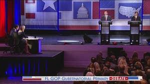 Hosts Bret Baier and Martha MacCallum moderate the Florida Republican gubernatorial debate.