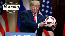 On Monday, Hannity sits down with President of the United States Donald J Trump hours after his powerful summit with President of the Russian Federation Vladimir Putin to discuss his thoughts on how it went, along with what can be done to make the countries friendly again.