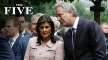 On Friday, the Five talk media bias over the New York Time's posting and retraction of the headline highlighting UN Ambassador Haley's curtains that were put in place by the Obama administration and keeps the public up to date on the latest about Hurricane Florence now that it's become a tropical storm.