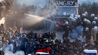 German police clash with protesters before G-20 summit