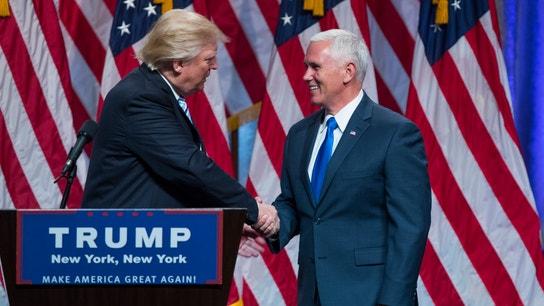 Trump Introduces VP Pick Pence as Job Creator, Budget Balancer