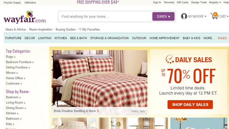 ipo values online furnishings retailer wayfair at up to 2. Black Bedroom Furniture Sets. Home Design Ideas