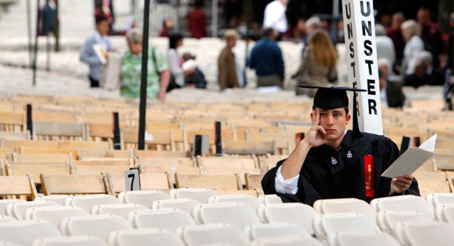 College Graduate Sitting Alone