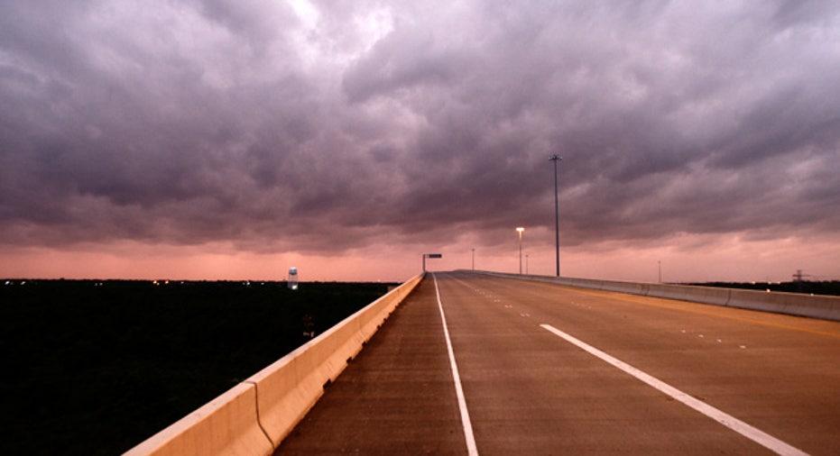 Empty Highway in Texas