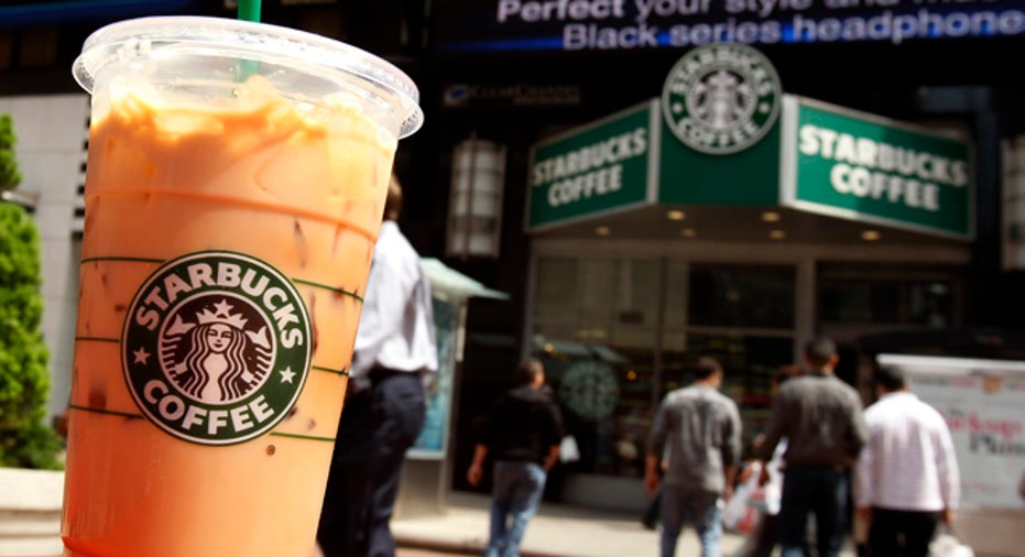 Starbucks Drink Front of Store