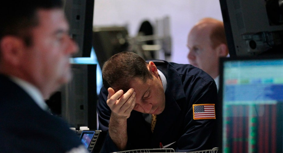 NYSE Trader Deep in Thought (Unhappy)