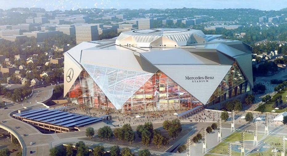 Atlanta Falcons Mercedes-Benz Stadium rendering FBN