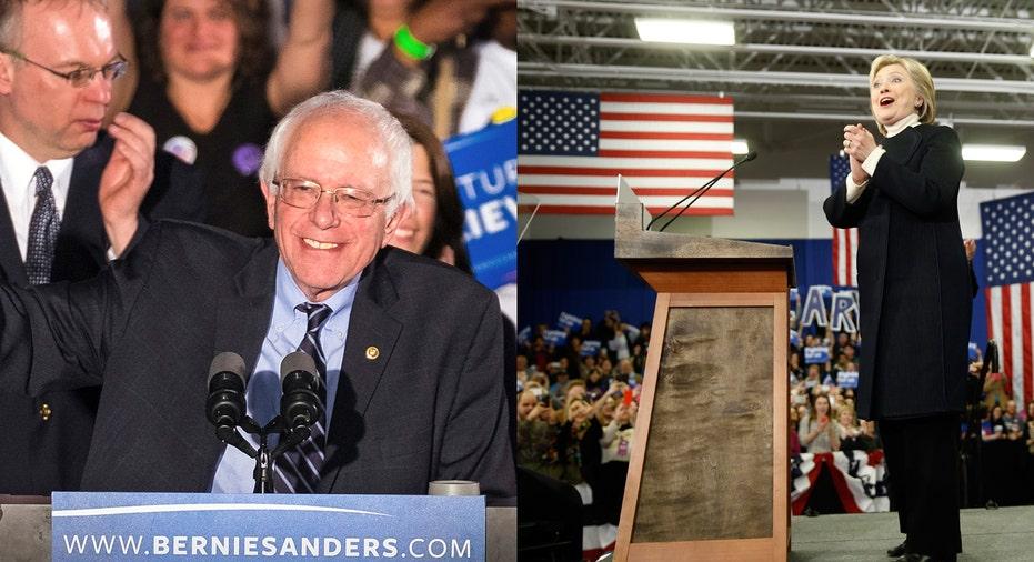 Bernie Sanders and Hillary Clinton FBN