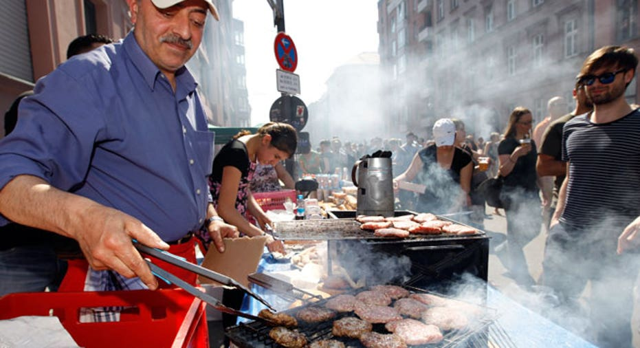 Burgers Being Grilled in Germany (BBQ)