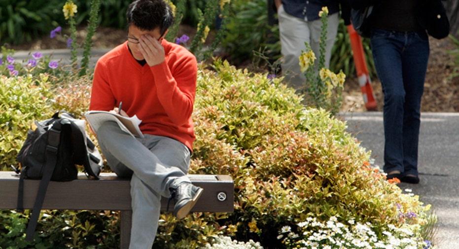 College Student Stressed