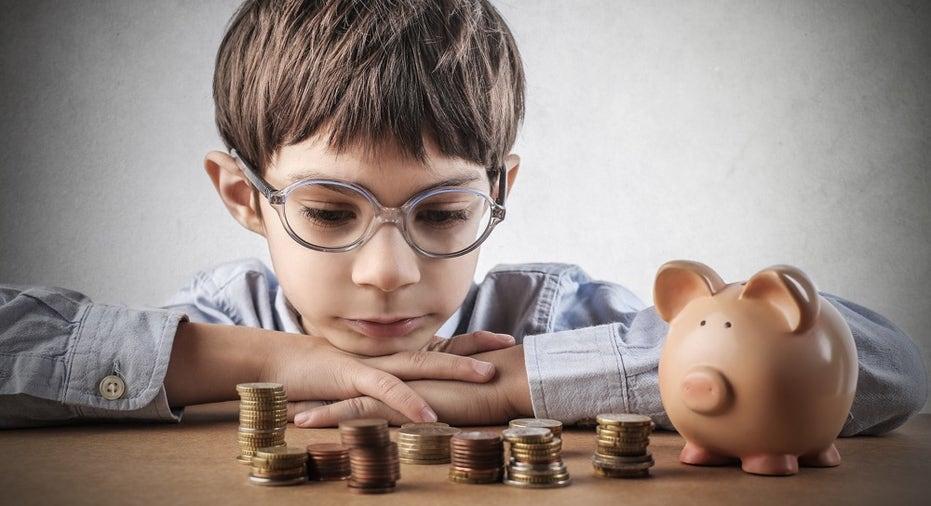 Child saving money