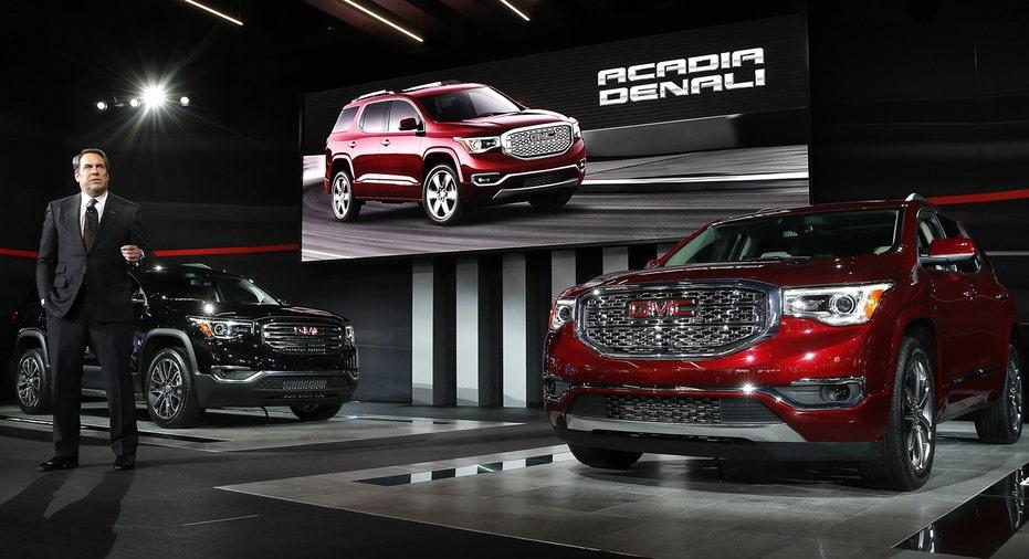 2017 GMC Acadia, Detroit Auto Show, General Motors, GM