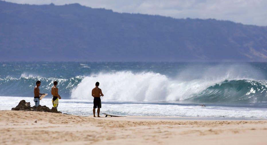 Hawaii, Vacation, surfing, beach, waves
